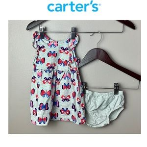 🦋2 for $15🦋 Carter'sdress and diaper cover 6M